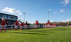 Bristol City Women players warm-up - Mandatory by-line: Paul Knight/JMP - 28/10/2018 - FOOTBALL - Stoke Gifford Stadium - Bristol, England - Bristol City Women v Arsenal Women - FA Women's Super League