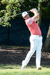 August 10, 2018 - Town And Country, Missouri, U.S - GARY WOODLAND from Topeka Kansas USA tees off from the 17th hole during round two of the 100th PGA Championship on Friday, August 10, 2018, held at Bellerive Country Club in Town and Country, MO (Photo credit Richard Ulreich / ZUMA Press) (Credit Image: © Richard Ulreich via ZUMA Wire)