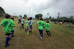 05 October 2013. Carrolton Boosters Soccer. New Orleans, Louisiana. <br /> U8 Flash v Bulls<br /> Photo; Charlie Varley
