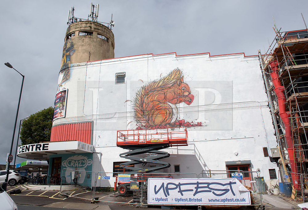 © Licensed to London News Pictures.  30/07/2017; Bristol, UK. Upfest 2017. Work by artists at Upfest, Europe's largest street art festival held annually in Bedminster, Bristol. The festival officially runs from 29 - 31 July with over 350 artists live painting in 37 locations. Picture credit : Simon Chapman/LNP