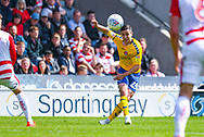 Josh Cullen of Charlton Athletic (24) passes the ball during the EFL Sky Bet League 1 play off first leg match between Doncaster Rovers and Charlton Athletic at the Keepmoat Stadium, Doncaster, England on 12 May 2019.