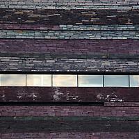Europe, United Kingdom, Wales, Cardiff. Slate walls of Wales Millenium Center.