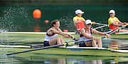 Bled, SLOVENIA,  GBR W2-, Bow, Helen GLOVER and Helen STANNING, on the second day of the FISA World Cup, Bled. Held on Lake Bled.  Saturday  29/05/2010  [Mandatory Credit Peter Spurrier/ Intersport Images] Cop last event as international level.