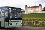 tourist bus chateau de rully burgundy france