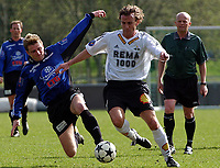 Fotball, 2. divisjon, 26.04.04 Rosenborg 2 - Vesterålen 5-0, Geir Bjørsvik, Vesterålen, Odd Inge Olsen, RBK 2<br /><br />Foto: Carl-Erik Eriksson, Digitalsport
