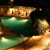 Q1 swiming pools at night