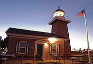 Santa Cruz Lighthouse at dusk