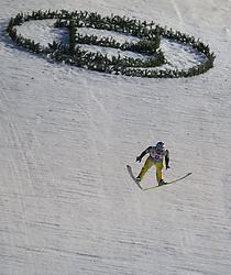 06.01.2013, Paul Ausserleitner Schanze, Bischofshofen, AUT, FIS Ski Sprung Weltcup, 61. Vierschanzentournee, Bewerb, im Bild Simon Ammann (SUI) // Simon Ammann of Switzerland during Competition of 61th Four Hills Tournament of FIS Ski Jumping World Cup at the Paul Ausserleitner Schanze, Bischofshofen, Austria on 2013/01/06. EXPA Pictures © 2012, PhotoCredit: EXPA/ Juergen Feichter