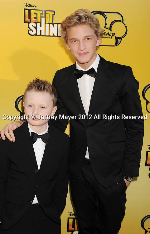 LOS ANGELES, CA - JUNE 05: Tom Simpson and Cody Simpson attend Disney's 'Let It Shine' Premiere held at The Directors Guild Of America on June 5, 2012 in Los Angeles, California.