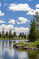 A warm summer day on the Henry's Fork River in Idaho.
