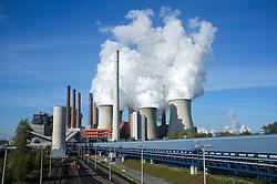 Neurath brown coal fired power station in North Rhine Westphalia in Germany