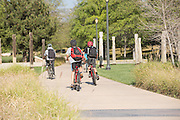 Biking on Jeffrey Open Space Trail in Irvine