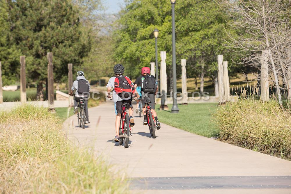 Biking on Jeffrey Open Space Trail in Irvine