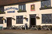 King's Head Inn, Adnams public house on Market Hill, Woodbridge, Suffolk, England