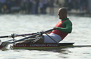 Peter Spurrier Sports  Photo.email pictures@rowingpics.com.Tel 44 (0) 7973 819 551..Photo Peter Spurrier.29/03/2002.2002 Thames World Sculling Challenge.Vaclav Chulupa CZE M1X Rowing Course: River Thames, Championship course, Putney to Mortlake 4.25 Miles [Mandatory Credit Peter Spurrier; Intersport Images]