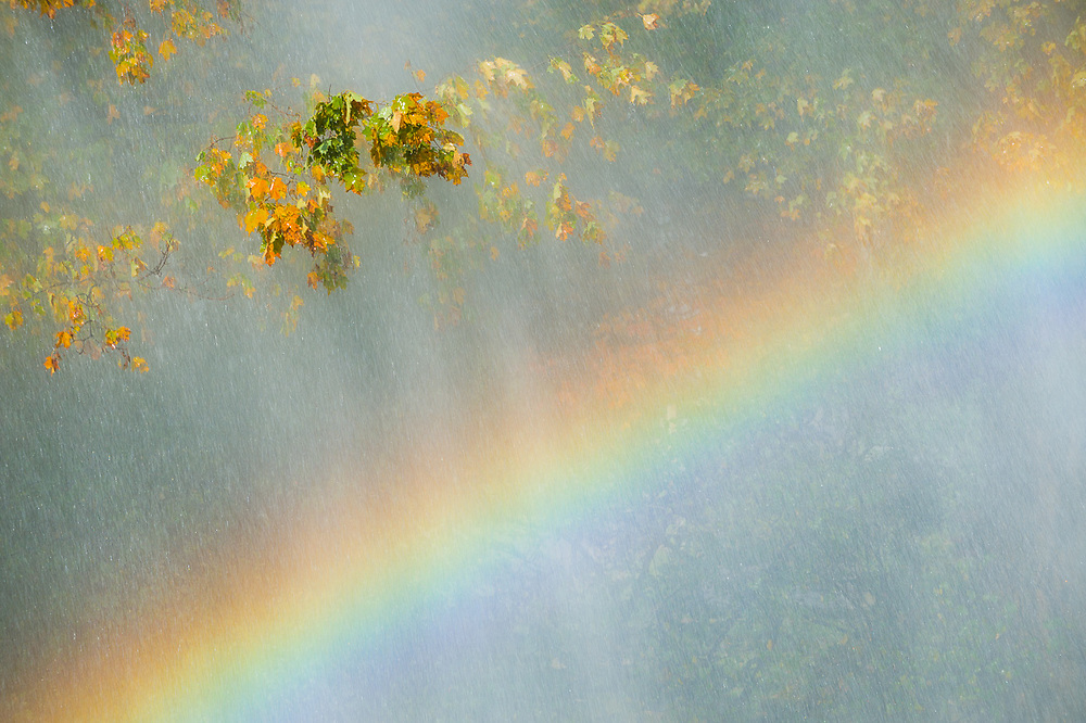 Autumn rainbow, Jaffrey, New Hampshire, USA