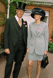 MR & MRS HENRY CECIL, he is the leading trainer, at Royal Ascot on 17th June 1997.LZI 94