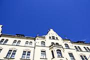 details of the facade of an Art Nouveau apartment building, Riga, Latvia