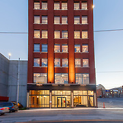 Globe Building at 1712 Main Street, downtown Kansas City, Missouri. Exterior architectural photography taken by Eric Bowers for Centric Projects