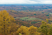 Blue Ridge Mountains with deciduous forest. Virginia. United States of America.