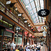 And historic shopping arcade, Strand Arcade, in Sydney's downtown shopping area off Pitt Street