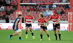 10/03/2018 Andries Coetzee(blond) starts to run the ball. Gauteng Lions vs the Auckland Blues at Emirates Airlines Stadium, Ellis Park, Johannesburg, South Africa. Picture: Karen Sandison/African News Agency (ANA)