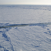 INTL.ARCTIC PROJECT, Open water leads at the North Pole.