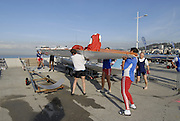 Le Havre, FRANCE, competing at the French and International, Coastal Rowing Championships. 13/10/2006. [Photo, Peter Spurrier/Intersport-images].....[Mandatory Credit Peter Spurrier/ Intersport Images] French, National and International Coastal Rowing Championships, Le Havre. FRANCE , Equipment, , Sunrise, Sunsets, Silhouettes