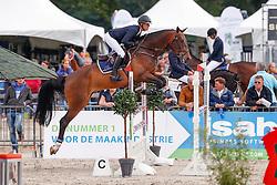 324 - Enjoy - Van Geel Schroder Mareille<br /> 5 Jarige Springen<br /> KWPN Paardendagen - Ermelo 2014<br /> © Dirk Caremans