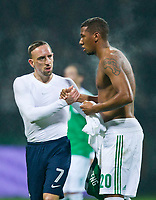 FOOTBALL - FRIENDLY GAME 2011/2012 - GERMANY v FRANCE  - 29/02/2012 - PHOTO DPPI - FRANCK RIBERY (FRA) AND JEROME BOATENG (GER) AT THE END OF MATCH