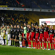 Fenerbahce's and Genclerbirligi's players during their Turkish superleague soccer match Fenerbahce between Genclerbirligi at the Sukru Saracaoglu stadium in Istanbul Turkey on Saturday 03 March 2012. Photo by TURKPIX