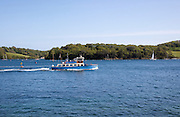 Ferry boat leaving St Mawes, Cornwall, England, UK
