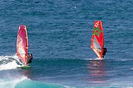 Windsurfing at Ho'okipa Beach Park, Paia, Maui, Hawaii, USA