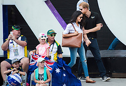 Prince Harry, right, arrives with his girlfriend Meghan Markle arrive to wheelchair tennis during the Invictus Games in Toronto, ON, Canada, Monday September 25, 2017. This is Prince Harry's first public appearance with Markle. Photo by Nathan Denette/CP/ABACAPRESS.COM