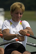 2003 - FISA World Cup Rowing Milan Italy.30/05/2003  - Photo Peter Spurrier.GER W2X Kathrin Boron.  Equipment [Mandatory Credit: Peter Spurrier:Intersport Images]