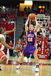 12 January 2008: Jason Holsinger during a game in which  the Purple Aces of the University of Evansville lost to  the Redbirds of Illinois State on Doug Collins Court at Redbird Arena in Normal Illinois by a score of 74-66.