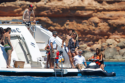 Leo Messi, Luis Suarez and Cesc Fabregas, leave with their families to sail by boat and enjoy the sea with games, jet skis, laughter ... Enjoy as children on a well-deserved vacation<br /> <br />12 June 2017.<br /><br />Please byline: Vantagenews.com
