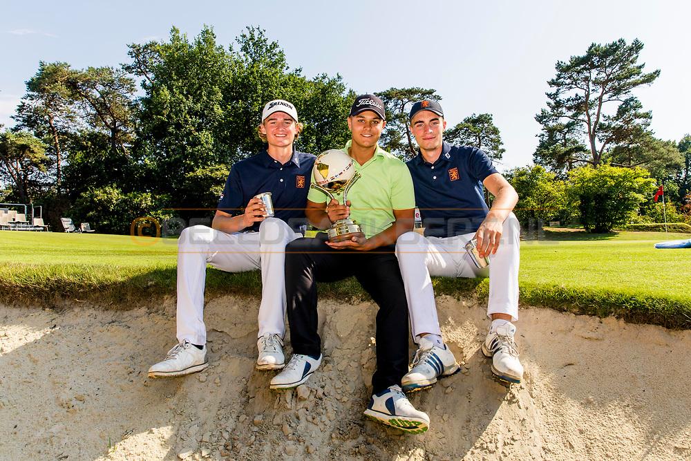 21-07-2018 Pictures of the final day of the Zwitserleven Dutch Junior Open at the Toxandria Golf Club in The Netherlands.  Winning Team The Netherlands Boys with Kiet van der Weele, Mike Toorop en Benjamin Reuter
