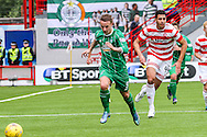 Celtic FC Forward Leigh Griffiths on the attack during the Ladbrokes Scottish Premiership match between Hamilton Academical FC and Celtic at New Douglas Park, Hamilton, Scotland on 4 October 2015. Photo by Craig McAllister.