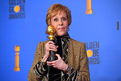 January 6, 2019 - Los Angeles, California, U.S. - Carol Burnett in the Press Room during the 76th Annual Golden Globe Awards at The Beverly Hilton Hotel. (Credit Image: © Kevin Sullivan via ZUMA Wire)