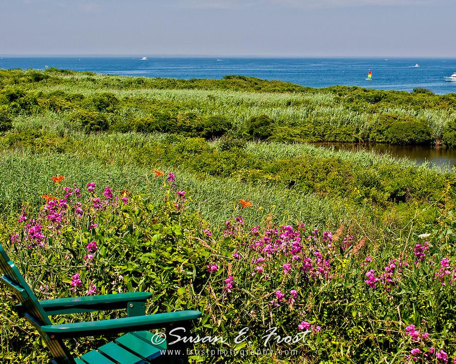 View of Great Salt Pond on Block Island, Rhode Island