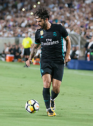 July 26, 2017 - Los Angeles, California, U.S - Isco #22 of Real Madrid during their International Champions Cup game with Manchester City at the Los Angeles Memorial Coliseum in Los Angeles, California on Wednesday July 26, 2017. Manchester City defeats Real Madrid, 4-1. (Credit Image: © Prensa Internacional via ZUMA Wire)