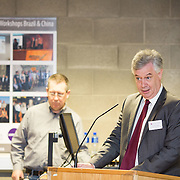 20.01.17<br /> Minister of State for Employment and Small Business, Deputy Pat Breen addressed a seminar for SMEs on The Role of Education in Supporting Small Business at University of Limerick.<br /> <br /> Addressing the seminar was Dr. Philip O'Regan, Dean of Kemmy Business School, UL.<br /> <br />  Jointly hosted by the Kemmy Business school and the faculty of Science and Engineering, the event brought together small and medium enterprises along with representative bodies, Local Enterprise Offices, Chambers of Commerce, Irish Small and Medium Enterprises association (ISME), Enterprise Ireland and the IDA. The aim of the event was to stimulate greater collaboration between third level institutes and SMEs in relation to research, education and business advice. To date, University of Limerick and Limerick Institute of Technology have supported a number of start-ups through the Nexus Innovation Centre and LIT's Enterprise Centres while academic staff have provided expert advice to local companies. Picture: Alan Place
