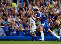 Photo: Richard Lane/Sportsbeat Images. <br />Chelsea v Birmingham. Barclay's Premiership. 12/08/2007. <br />Chelsea's Claudio Pizarro celebrates his goal.