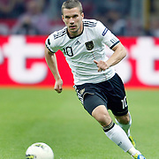 Germany's Lukas PODOLSKI during their UEFA EURO 2012 Qualifying round Group A matchday 19 soccer match Turkey betwen Germany at TT Arena in Istanbul October 7, 2011. Photo by TURKPIX