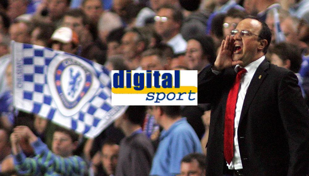 Photo: Paul Thomas.<br /> Chelsea v Liverpool. UEFA Champions League. Semi Final, 1st Leg. 25/04/2007.<br /> <br /> Rafael Benitez, Liverpool manager.