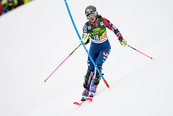 January 7, 2018 - Kranjska Gora, Gorenjska, Slovenia - Resi Stiegler of United States of America competes on course during the Slalom race at the 54th Golden Fox FIS World Cup in Kranjska Gora, Slovenia on January 7, 2018. (Credit Image: © Rok Rakun/Pacific Press via ZUMA Wire)