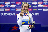 Podium, Women Elimination Race, Laura Kenny (Great Britain), gold medal, during the Track Cycling European Championships Glasgow 2018, at Sir Chris Hoy Velodrome, in Glasgow, Great Britain, Day 4, on August 5, 2018 - Photo Luca Bettini / BettiniPhoto / ProSportsImages / DPPI - Belgium out, Spain out, Italy out, Netherlands out -