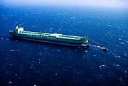 Bergeson O Y Tankers oil tanker cargo ship moored at sea, Saudi Arabia 1979