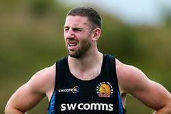 Alex Cuthbert looks on as as Exeter Chiefs take part in stage one training as Premiership Rugby clubs take the first steps towards a return to play in August after the Covid-19 enforced break - Rogan/JMP - 19/06/2020 - RUGBY UNION - Sandy Park - Exeter, England - Gallagher Premiership.